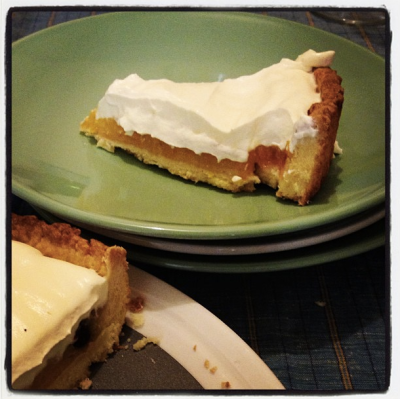 Citrus cream pie