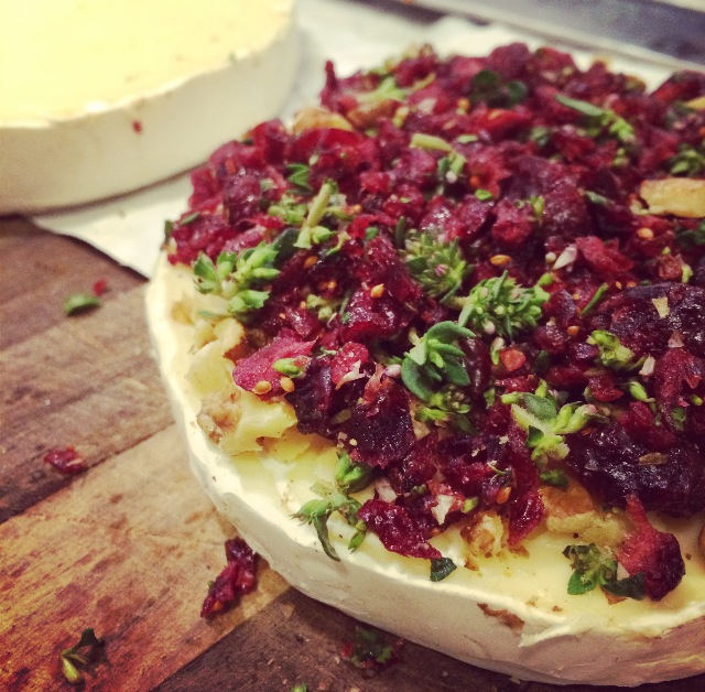 Cranberry, walnut, thyme brie