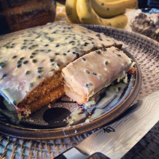 Passionfruit pound cake