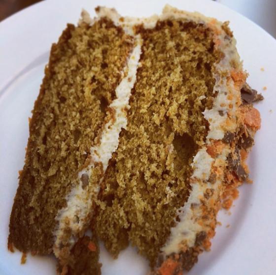 Sliced PB honeycomb Butterfinger cake