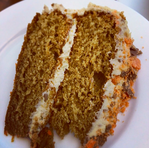Sliced PB honeycomb Butterfinger cake