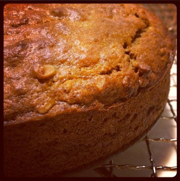 Banana golden syrup oat loaf