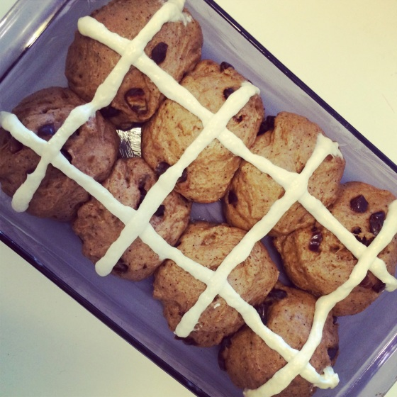 Hot Cross Buns: Date and Coffee