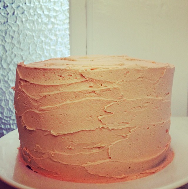 Frosted ombre cake