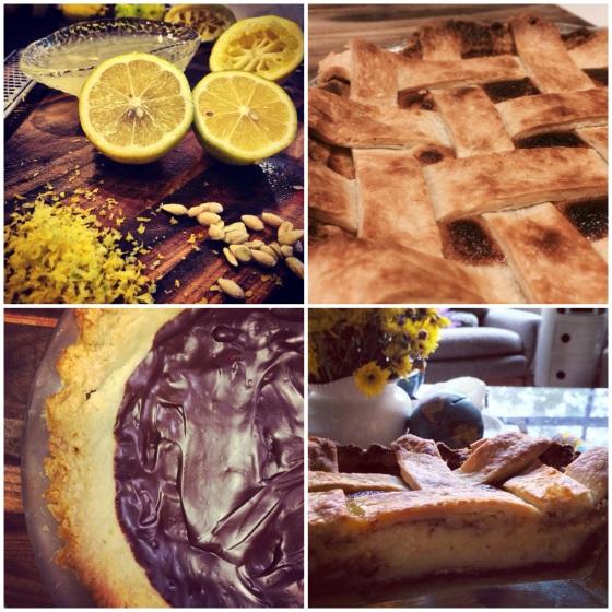 Black-bottom Meyer lemon pie.
