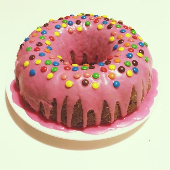 Zucchini beetroot cake