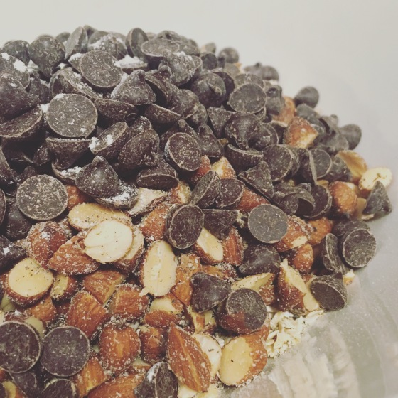 Smoked almond dark choc chips